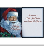 "Boxed Christmas Cards - ""Santa With Holly"""
