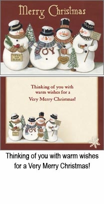 "Boxed Christmas Cards - ""Snowman Collector"""
