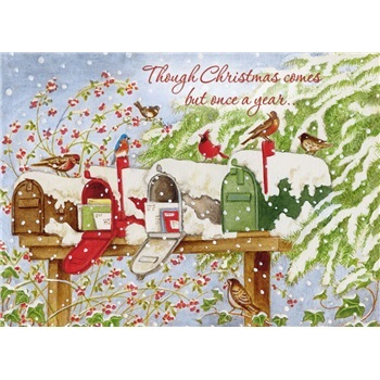 """Boxed Christmas Cards - """"Snowy Mailboxes"""""""