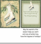 "Boxed Christmas Cards  - ""Vintage Skates"""