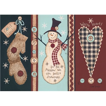 """Boxed Christmas Cards - """"Winter Buttons"""""""