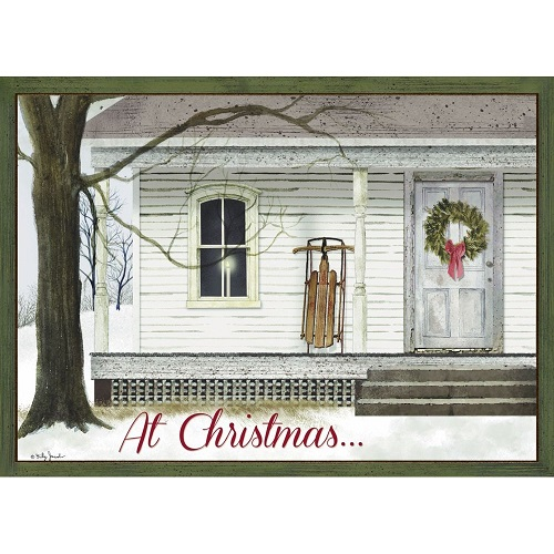 """Boxed Christmas Cards - """"Winter Porch"""""""