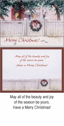 """Boxed Christmas Cards  - """"Wreath on Gate"""""""