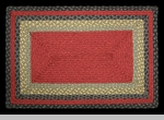 "Braided Rectangle Rug"" - 20"" x 30"" - ""Burgundy/Olive/Charcoal"""
