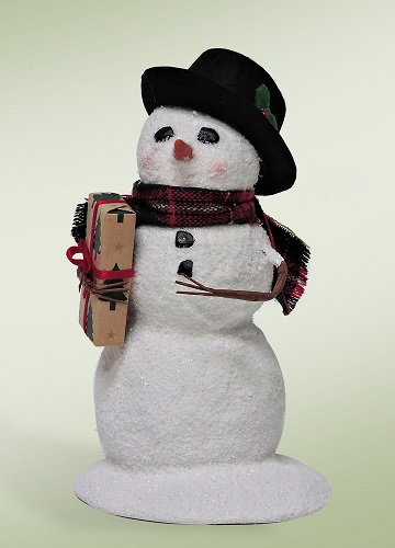 "Byers Choice Caroler - ""Snowman With A Package"" 2016"