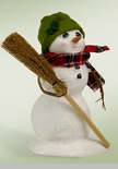 "Byers Choice Caroler - ""Snowman with Broom"""