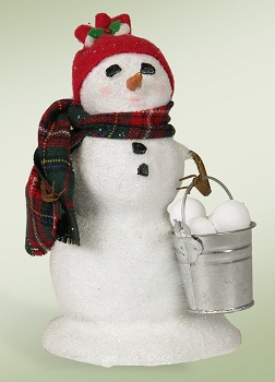 "Byers Choice Caroler - ""Snowman with Snowballs"""