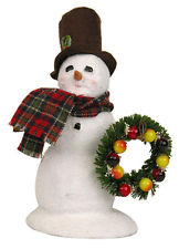 "Byers Choice Caroler - ""Snowman With Wreath"""