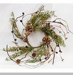 "Candle Ring - ""Country Cedar Candle Ring"" - 4"""