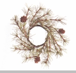 "Candle Ring  - ""Cypress Pine Candle Ring with Cones"" -  2"""