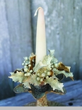 "Candle Ring - ""Glittered Holly & Berry Candle Ring"" - 1"""