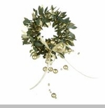 "Candle Ring - ""Green & Gold Candle Ring"" - 1.75 Inch"