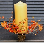 """Candle Ring - """"Harvest Podka Candle Ring"""" -  3.5 Inch"""