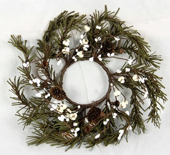 "Candle Ring - ""Jingle Bell And White Berry Candle Ring"" - 3.5"""