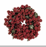 "Candle Ring - ""Burgundy Frost Candle Ring"" - 4"""