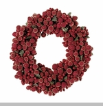 "Candle Ring - ""Burgundy Frost Candle Ring"" - 3.75"""