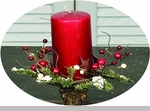 "Candle Ring - Snowy Country Pine"" - 3.5"""