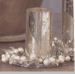"Candle Ring  - ""Tiffany Pearl Bead Pillar Candle Ring"""