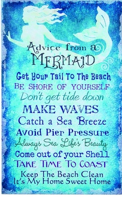 """Canvas Picture - """"Mermaid Rules"""""""