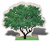"Cat's Meow Village� Accessory - ""Live Oak Tree"""