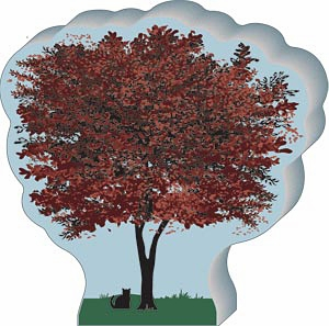 "Cat's Meow� Village - ""Japanese Maple Tree"""