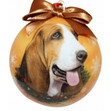 "Christmas Ornament - ""Basset Hound"""