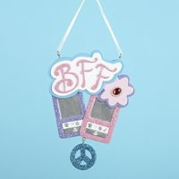 """Christmas Ornament  - """"BFF Glitter Cell Phone Ornament"""""""