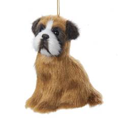 "Christmas Ornament - ""Boxer Plush Ornament"""