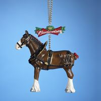 "Christmas Ornament - ""Budweiser� Clydesdale Horse Ornament"""