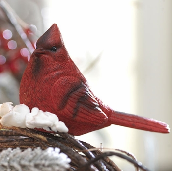 "Christmas Ornament  - ""Cardinal Clip-On Ornament"""