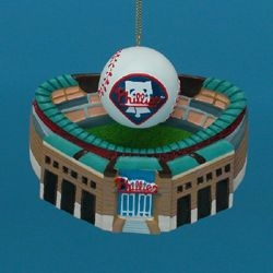 """Christmas Ornament  - """"Citizens Bank Park with Baseball Ornament"""""""