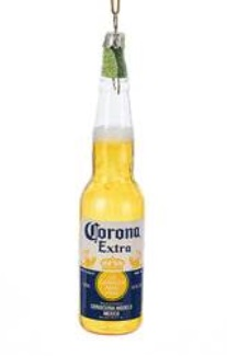"""Christmas Ornament - """"Corona With  Lime Bottle Ornament"""""""