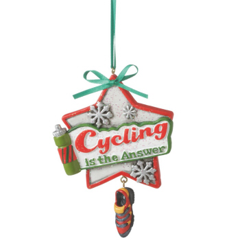 """Christmas Ornament - """"Cycling Is The Answer Ornament"""""""