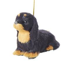 "Christmas Ornament - ""Dachshund Plush Ornament"""