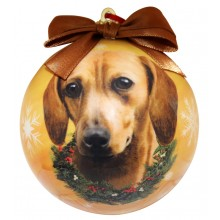 "Christmas Ornament - ""Dachshund"" - Red"