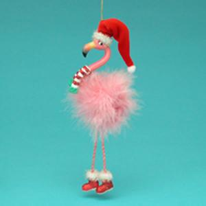 "Christmas Ornament - ""Flamingo Ornament"""