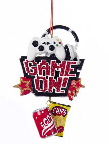 """Christmas Ornament - """"Game On Ornament"""""""