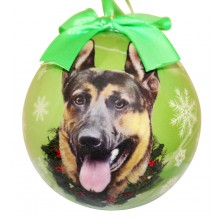 "Christmas Ornament - ""German Shepherd"""