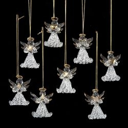"Christmas Ornament - ""Glass Angel Ornament"" -Box Of 8"
