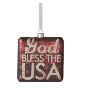 "Christmas Ornament - ""God Bless The USA"""