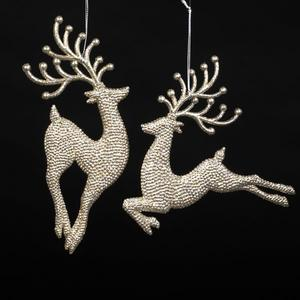 "Christmas Ornament - ""Gold Diamond Reindeer Ornament"""