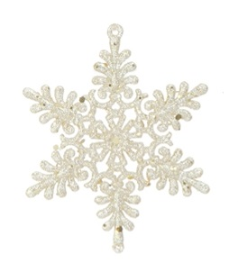 "Christmas Ornament - ""Gold Snowflake Ornament"""