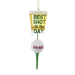"""Christmas Ornament - """"Golf  """"Best Shot Of The Day - 19TH Hole Ornament"""""""
