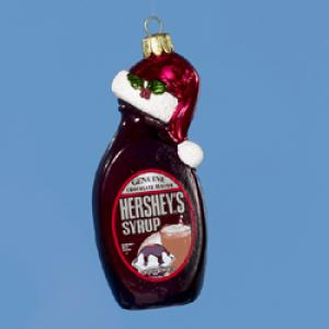 "Christmas Ornament - ""Hershey's Syrup Bottle Glass Ornament"""