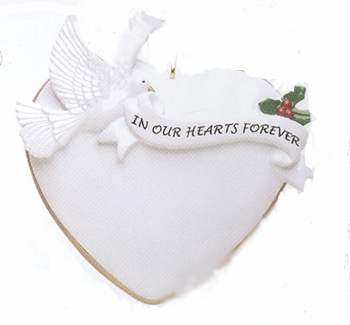 """Christmas Ornament - """"In Our Hearts Forever Ornament"""""""