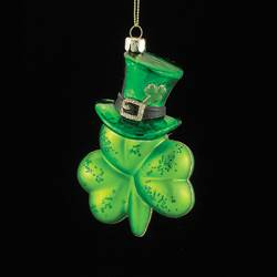 "Christmas Ornament - ""Irish Shamrock Ornament"""