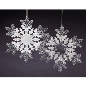 "Christmas Ornament  - ""Large Acrylic Snowflake Ornament"""
