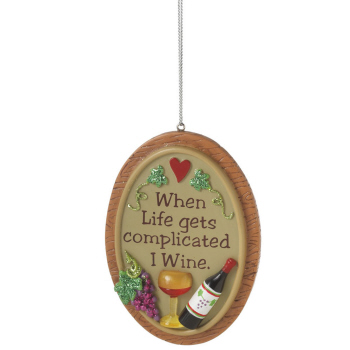 """Christmas Ornament - """"Life Is Complicated Ornament"""""""