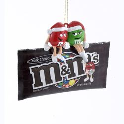 "Christmas Ornament - ""M&M'S� Sitting On A Bag Ornament"""