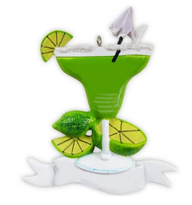 """Christmas Ornament - """"Margarita With Limes Ornament"""""""